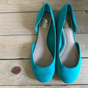 Dolce Vita Teal Suede Flats
